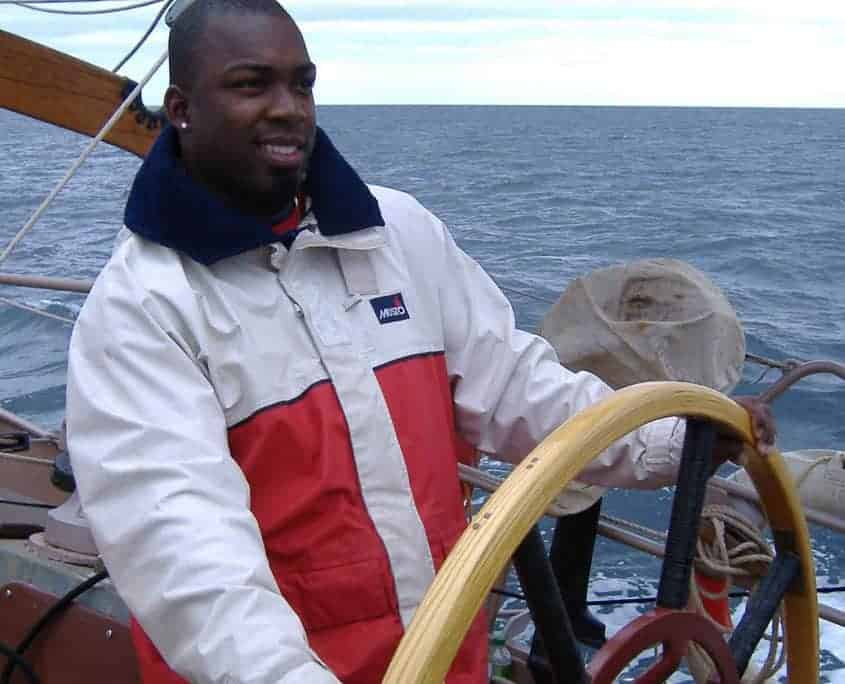 Steering a Tall Ship on a sailing weekend