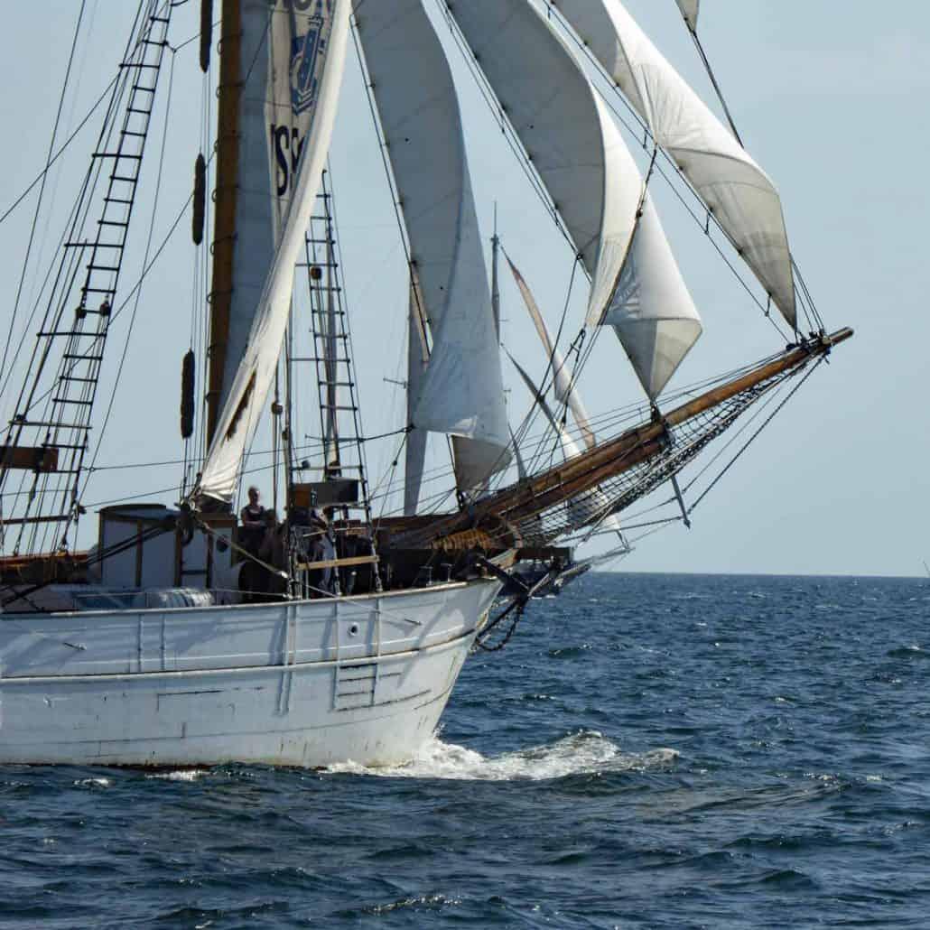INGO Three Masted Schooner, home port Gothenberg. SchoonerSail Tall Ships Gallery.