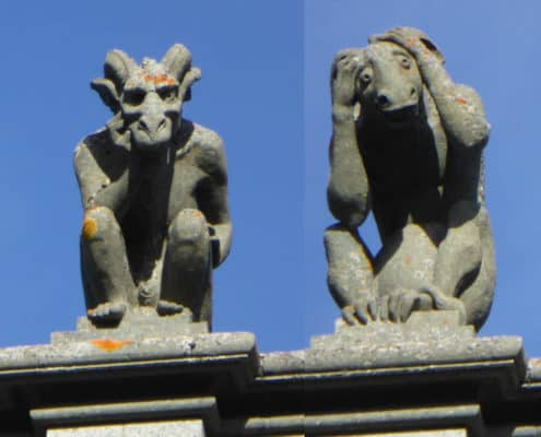 Carvings on Nidaros cathedral, Trondheim, Norway