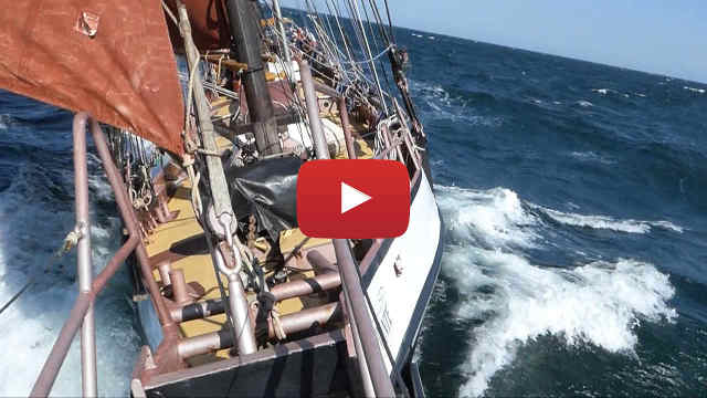 Schooner sailing video Riding The Waves In A Three Masted Schooner - image link.