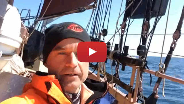 A video of an offshore voyage from Ipswich to Norway by schooner Trinovante crew member Jacek - image link.