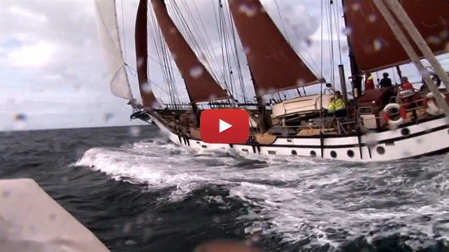 A UK sailing video about sailing on the schooner Trinovante.