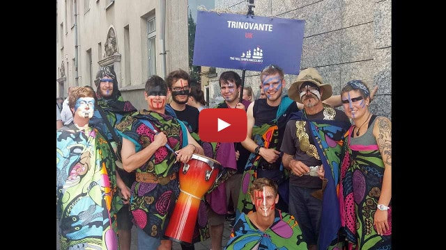 Tall Ships Crew Parade film featuring the crew of the schooner Trinovante - video image link.