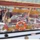 The ship, schooner Trinovante - aft deck view