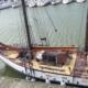 The ship, schooner Trinovante - fore deck view
