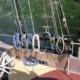 The ship, schooner Trinovante - pin rail view