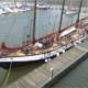 The ship, schooner Trinovante - whole boat view