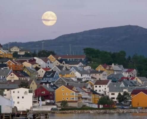 Evening view Kristiansund, Norway