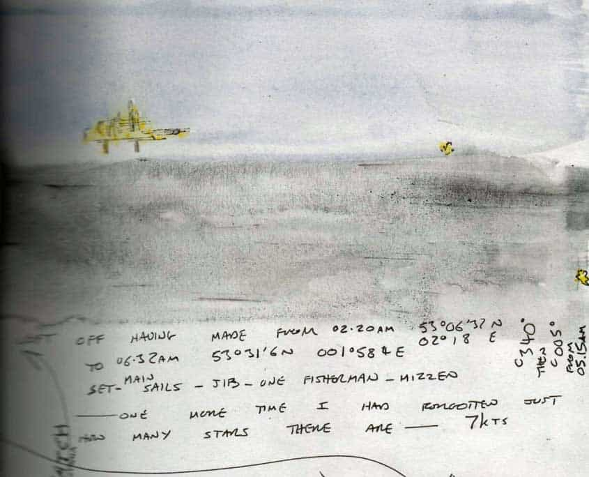 Log book extract from a sailing voyage to Norway