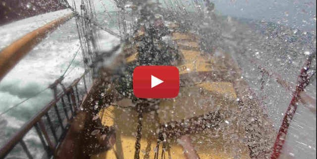 The schooner Trinovante sights Norway after a wet and windy crossing of the North Sea - A Sailing Video