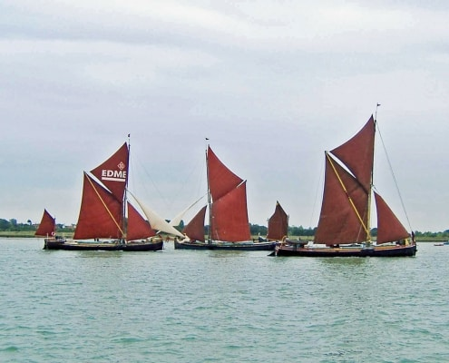 Thames Barge Race on the River Colne Essex