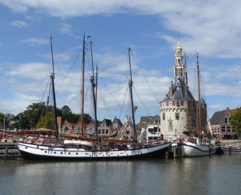 Trinovante alongside the quay at Hoorn, Netherlands