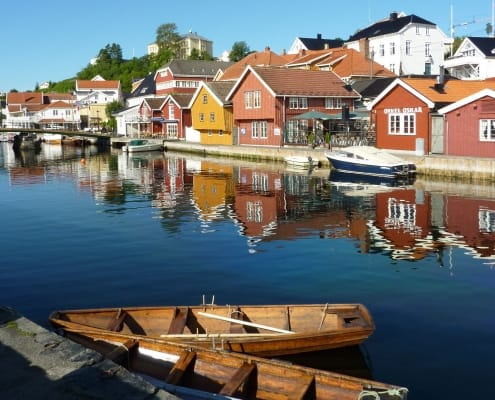 Kragero Harbour on the south coast of Norway.