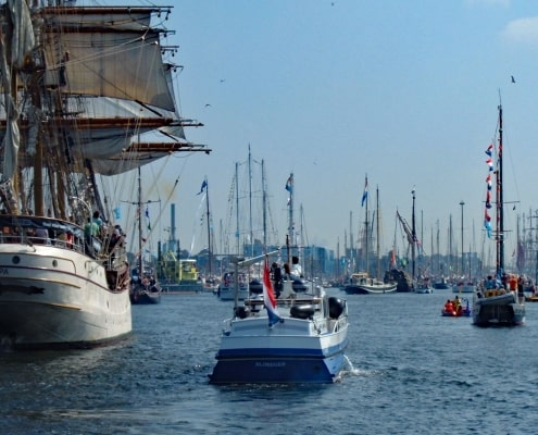 The Parade Of Sail, at the start of Sail Amsterdam, the largest sail festival in Europe