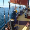 A sailing holiday on the schooner Trinovante near Alesund Norway