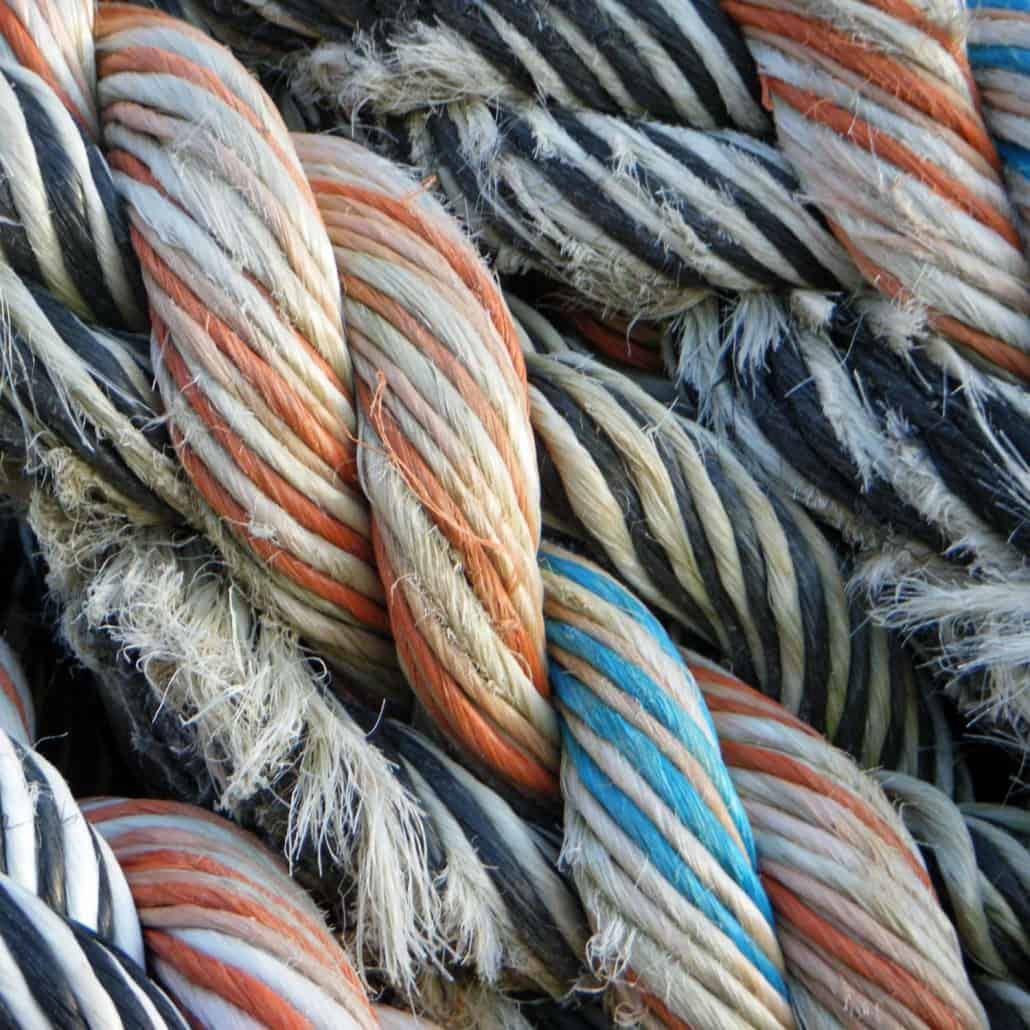 Textures Of Sailing in Norway - Polypropelene Rope